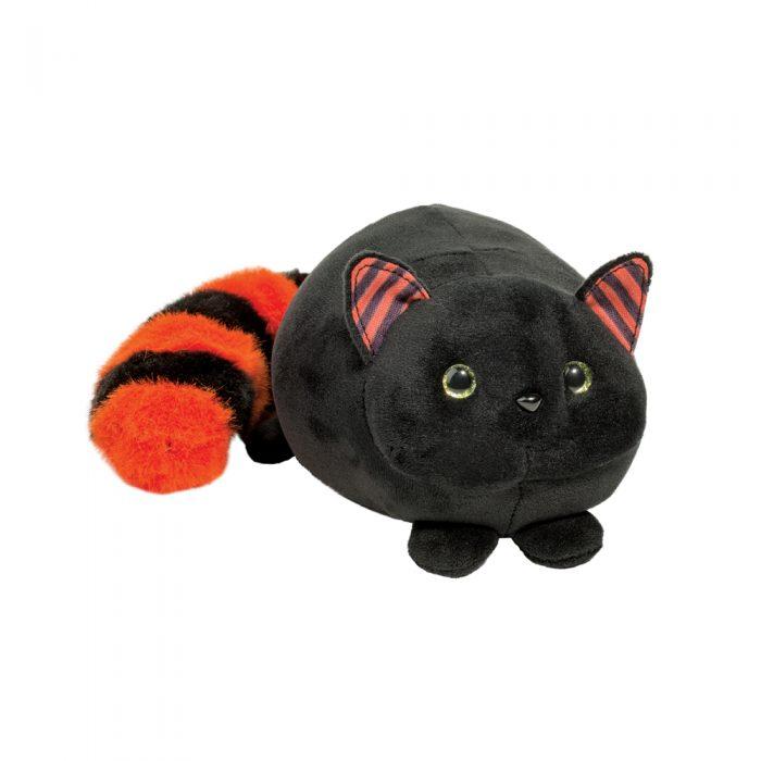Black cat stuffed animal halloween style.