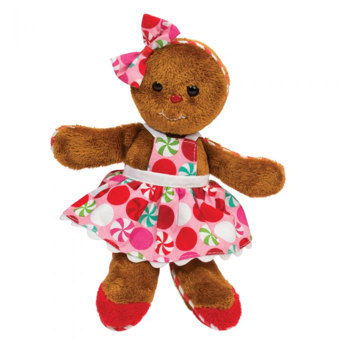 Gingerbread girl plush toy.