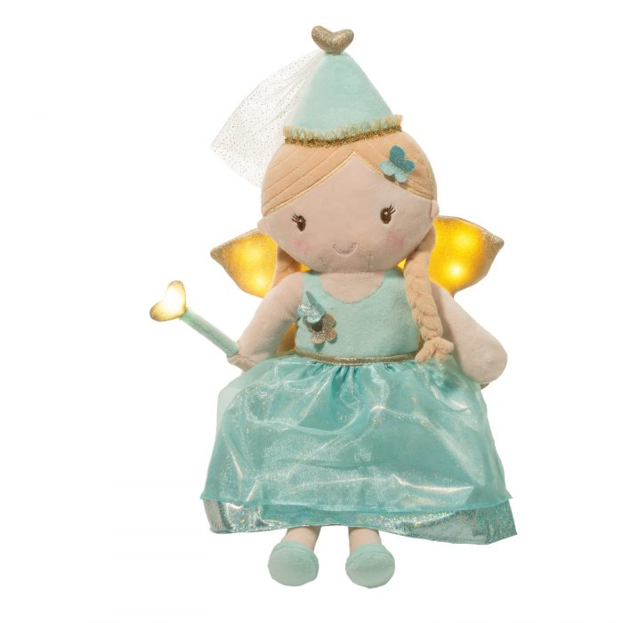 Aqua fairy doll with light up wings and wand.