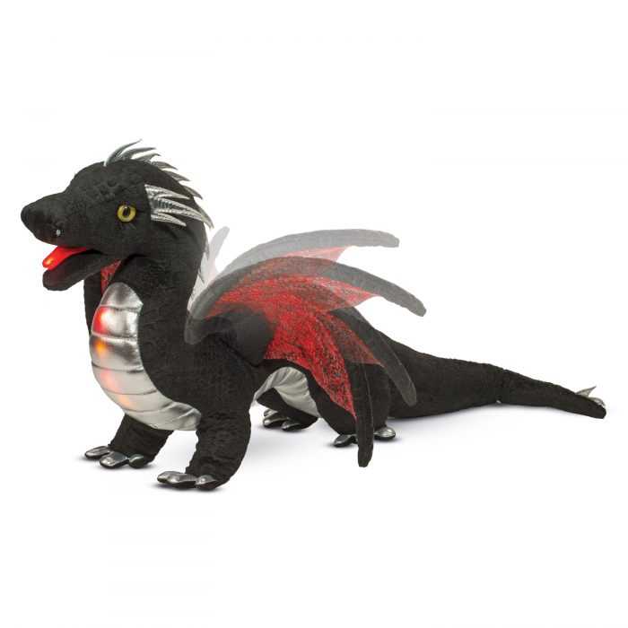 Light up stuffed animal dragon.