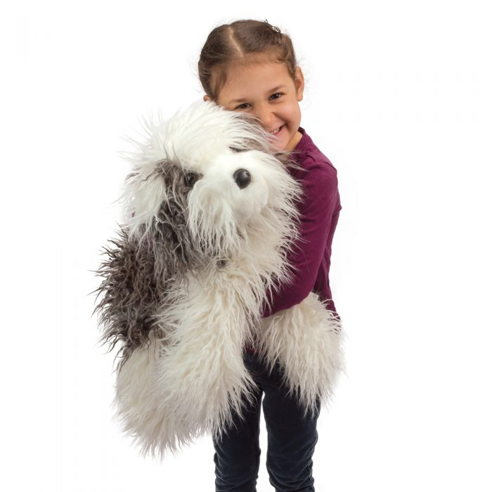 Large plush sheepdog
