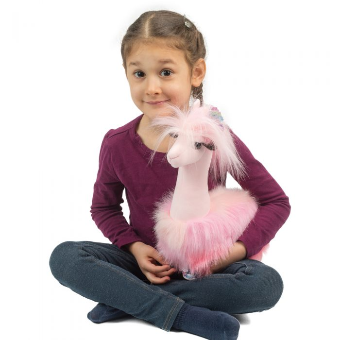 Fluffy and fun llama plush toy