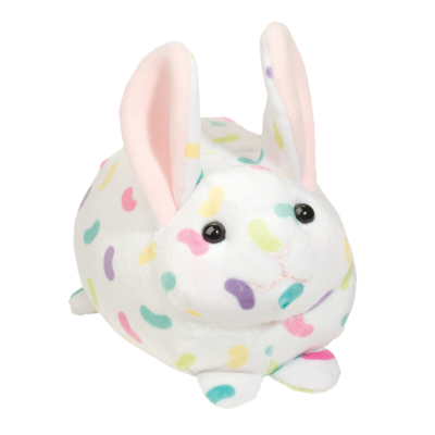 colorful jelly bean macaroon squishy bunny! easter stuffed animal bunny