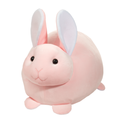 large light pink squishy stuffed animal bunny for easter