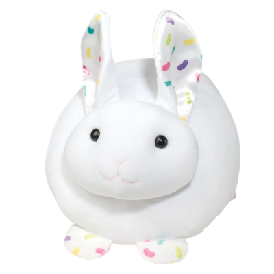 large squishy jelly bean bunny stuffed animal for easter