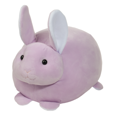 lilac purple squishy easter bunny stuffed animal!