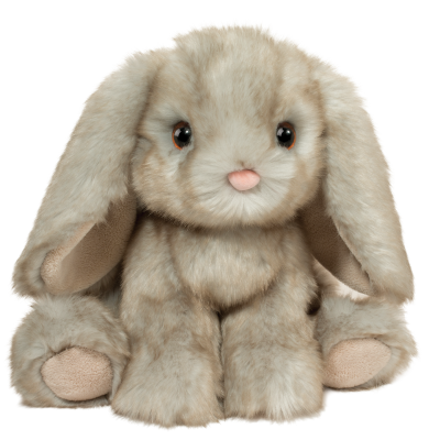 sweet vintage gray stuffed animal bunny