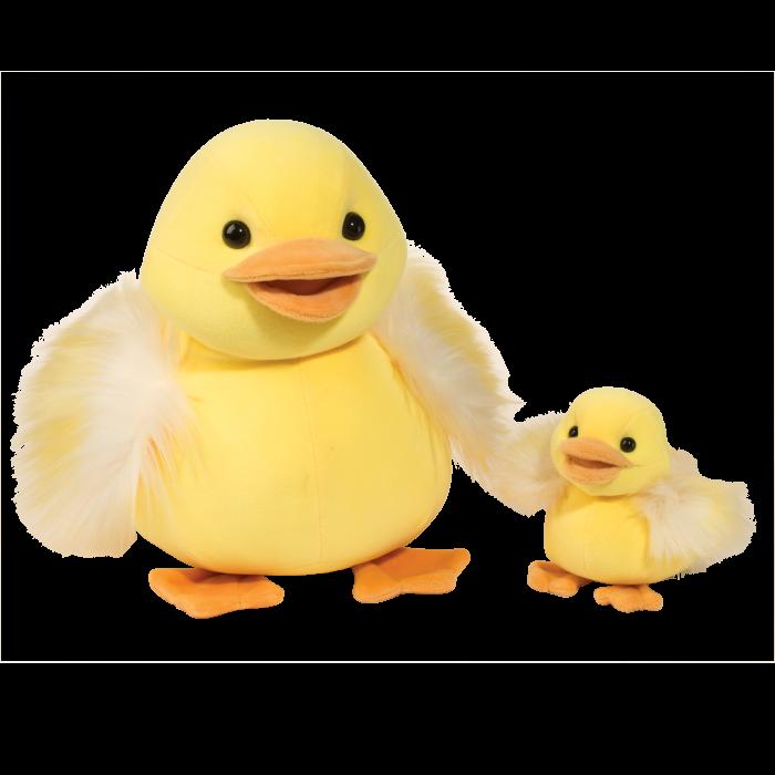 mama and baby yellow duck stuffed animal