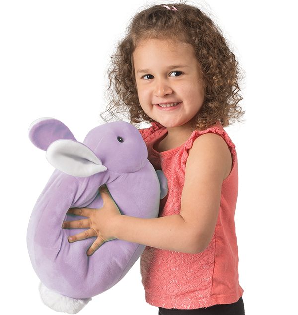 purple squishy easter bunny stuffed animal