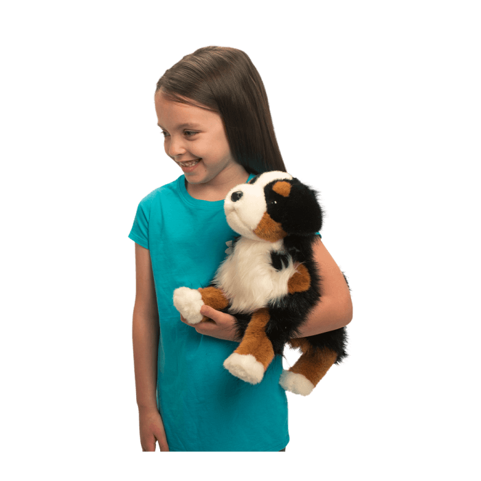 Bernese Mountain Dog stuffed animal is soft and adorable.