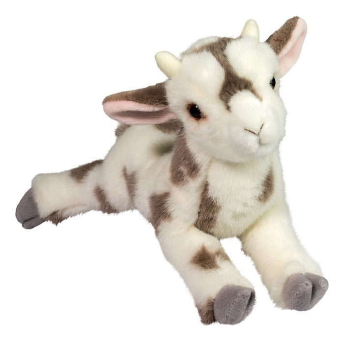 spotted goat stuffed animal.