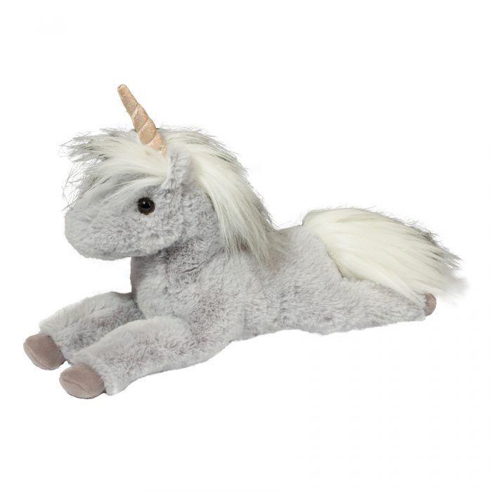 Super soft grey floppy unicorn stuffed animal for kids