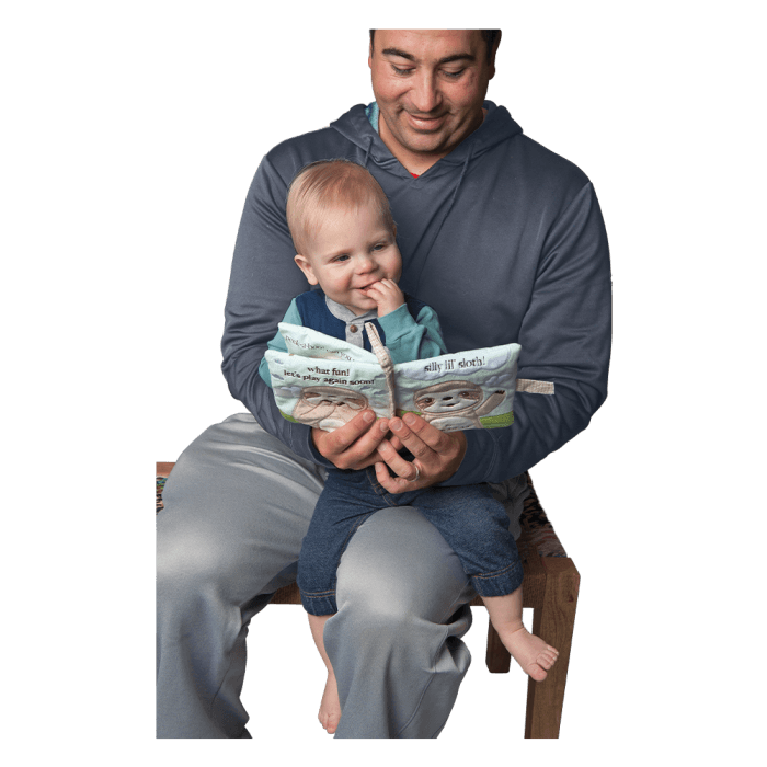 sloth soft book for baby with activity