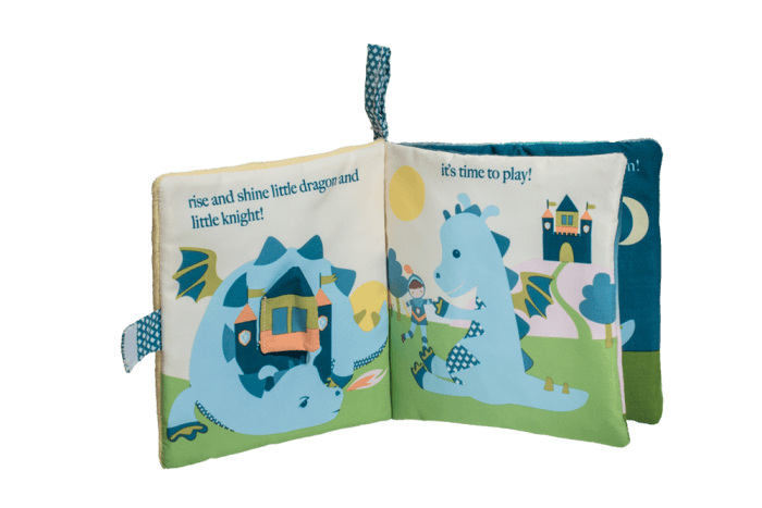 Magical dragon and knight soft book for baby.