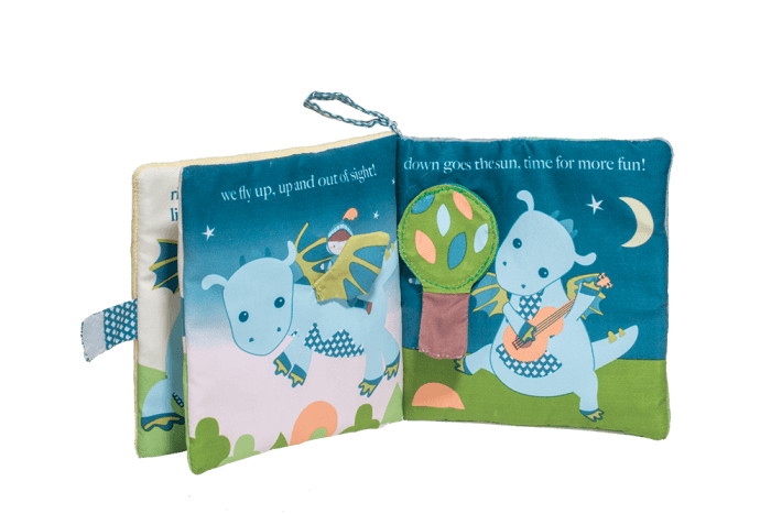 activity soft book for baby dragon and knight