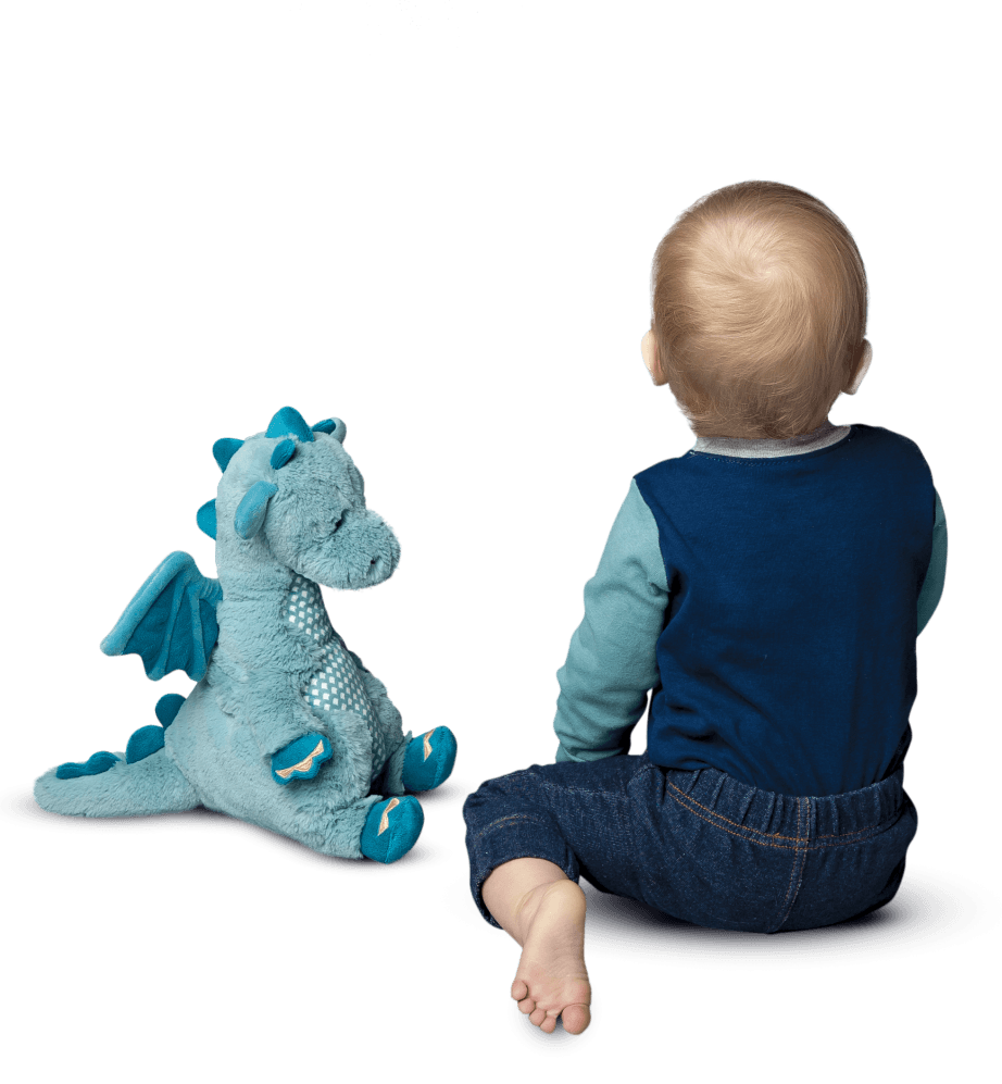 stuffed animal dragon for baby.