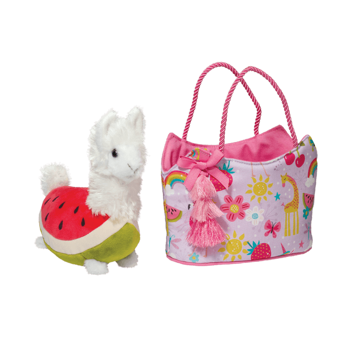 Llama watermelon stuffed animal with designer tote bag!